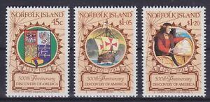 Norfolk Mi No. 519 - 521, Discovery Of America, Discovery, Mint MNH