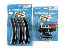 Cobblestone Corners Train Engine and Curve Rails