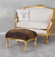 Tabouret or Baroque, Tabouret Pouf Ottoman Coiffeuse Banc Repose-Pieds