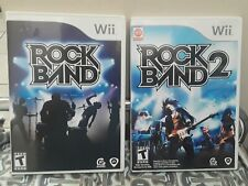 Wii Rock Band And Wii Rock Band 2 Games Lot of 2 Tested Complete with Booklets