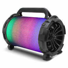 Bluetooth Wireless Speaker LED Lights Color - Changing Powerfull Bass BAZOOKA