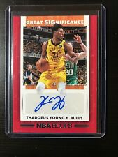 THADDEUS YOUNG NBA Hoops 2019-20 Great SIGnificance Autograph Chicago Bulls