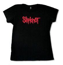 Slipknot Classic Logo Girls Juniors Black T Shirt New Official