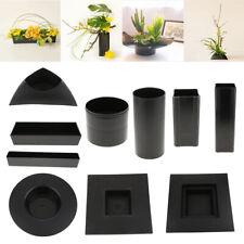 Plastic Ikebana Suiban Vase Tray Pot Bonsai Flower Container Various Shape