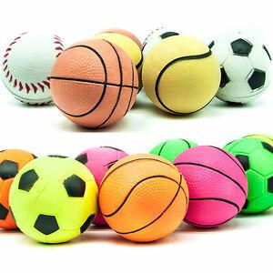 6cm Bright Sports Rubber Sponge HIGH BOUNCE Floating Dog Balls Toys for Boredom