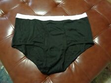 New Men's Calvin Klein Big and Tall Briefs Black Size 50 Waist CK Underwear
