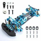 1/10 RC 4WD Drift Alloy Carbon Fiber Racing Car Drive Shft Frame Kit RC Car Blue