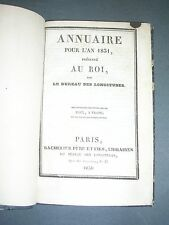 Sciences Annuaire du bureau des longitudes pour l'année 1831 Arago