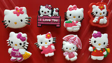 New Set of 8 Hello Kitty Shoe Charms FREE S&H + GIFTS USA Seller