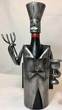 Kitchen, Bar Wine Vinegar Bottle Holder Chef W/Coat Fork & Glass Metal Character