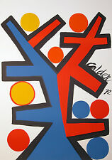"""Calder """"Assymetrie 1972,"""" Color Lithograph, Signed in Plate, Galerie Maeght,"""