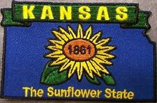 Embroidered USA State Patch Kansas NEW montage