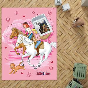 Kinderteppich Bibi und Tina Freunde 100x130 cm lärmhemmend rutschhemmend Teppich