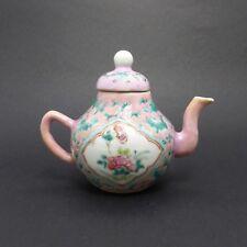 Théière miniature porcelaine Chine XIXe Siècle Chinese Famille Rose 19th C.