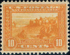 #400 1913 10 CENT ORANGE YELLOW PAN-PACIFIC ISSUE MINT-OG/H--XF/SUPERB
