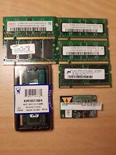 Lot Sale Laptop Memory 6 (six) Mixed SO DIMM (Bonus Laptop Modem)