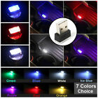 1X Mini USB LED Interior Light Neon Atmosphere Ambient Lamp Bulb Car Accessories