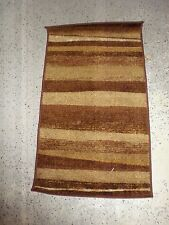 "Dalyn Rug Company Monterey Chocolate New Stripe 19"" x 33"" Brown Cream Nylon"