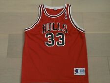 CHICAGO BULLS #33 PIPPEN CHAMPION NBA RED BASKETBALL JERSEY BOYS XL/18-20