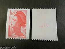 FRANCE 1982, timbre 2192a, type ROULETTE n° ROUGE LIBERTE, neuf** MNH STAMP