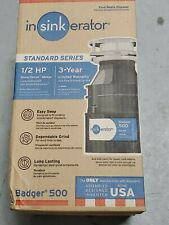 InSinkErator Badger 5 Badger 1/2 HP Garbage Disposal Disposer New no reserve