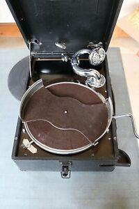 vintage antique HMV gramophone 102 model black case full working order complete