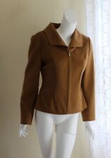 Andean Tradition Sz S 100% BABY ALPACA LUXURY Vicuna Leather Art-to-Wear Jacket