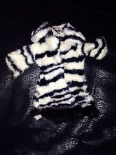 Barbie Vintage Fur Zebra Coat Original From 1960'S Vintage Htf