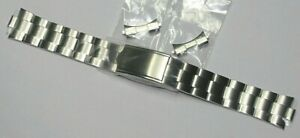 SEIKO 19MM STEEL WATCH BRACELET WITH CURVED ENDS 44Q6JB 7S26-0440 7S26-0060