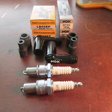 BMW Airhead 2x NGK 5000 Ohm Spark Plugs & Caps 1981 on r100rs r100rt r100s BP7ES