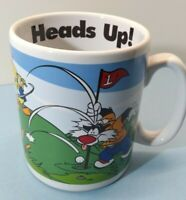 Golf Jumbo Sized Sylvester Tweety Bird Large  Heads Up Golf Mug Cup 1996