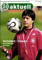 16.08.2006 DFB-Aktuell 6/2006 Deutschland - Schweden in Gelsenkirchen