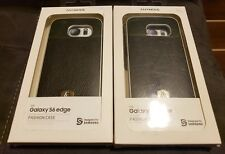 Two original Anymode black leather premium cover for GALAXY S6 edge