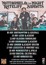 Nathaniel Rateliff & Night Sweats 2016 U.K. Concert Tour Poster- Rock,Soul Music