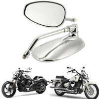 Espejo de cristal retrovisor ovalado motocicleta 2pieza para Ducati KTM Kawasaki