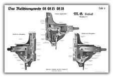 WW1 German MG08 & MG08/15 Maxim Machine Gun Training Chart - Lock