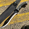 """16"""" TACTICAL HUNTING SURVIVAL RAMBO MACHETE FIXED BLADE KNIFE Axe Sword Army"""