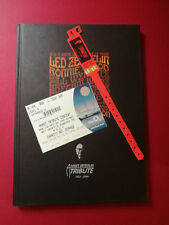 Led Zeppelin O2 Reunion HARDBACK programme + DVD + Ticket + UNCUT red Wristband