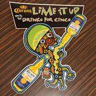 1999 Corona Beer Cinco De Mayo Lime It Up Cardboard Sign Advertisement