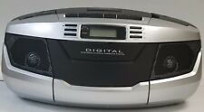 Tyler Audio TAU103-SL Portable Boombox AM/FM Radio CD & Cassette Decks USB Input