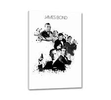 James Bond Splash Art 90x60cm Leinwandbild Wandbilder auf Keilrahmen Caro Art