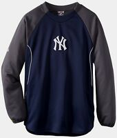 New York Yankees Authentic On Field Therma Base Tech Fleece Pullover Two Tone