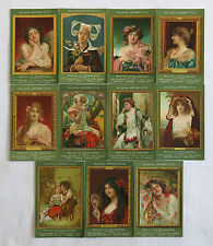 LEFEVRE UTILE, collection de 11 cartes postales,1900, BISCUITS LU, MUCHA,SUPERBE