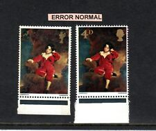 More details for sg 748 1967 painting 4d error mistake missing part gold head & value stamp mnh