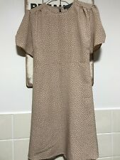 Ladies Primark Taupe Spotted Tea Dress Size 10 BNWOT