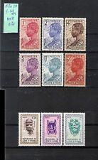 COTE D'IVOIRE - 9V **MNH (1936/38 Y&T 109-114 + 1960 181-3) HEADDRESSES / MASKS
