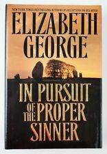 "1st/1st Edition of ""In Pursuit of a Proper Sinner "" by author Elizabeth George"