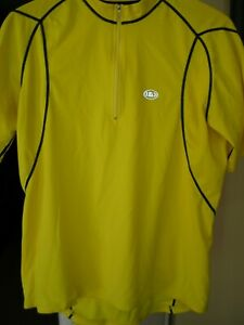 LOUIS GARNEAU MEN'S CYCLING JERSEY XL YELLOW GOOD USED CONDITION