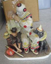 Vintage Gorham Porcelain Norman Rockwell The Runaway Clown Boy Figurine