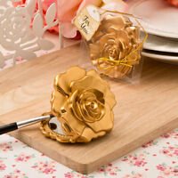 50 Gold Rose Design Mirror Compacts Bridal Shower Favor Birthday Party Favors